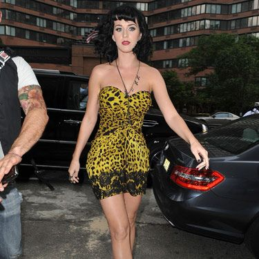 "After Katy wore this neon yellow mini out and about in NYC last June, her <a href=""http://www.cosmopolitan.com/celebrity/style/Star-Style-Evolution-Katy-Perry"">style started to evolve</a> from ladylike to edgy.