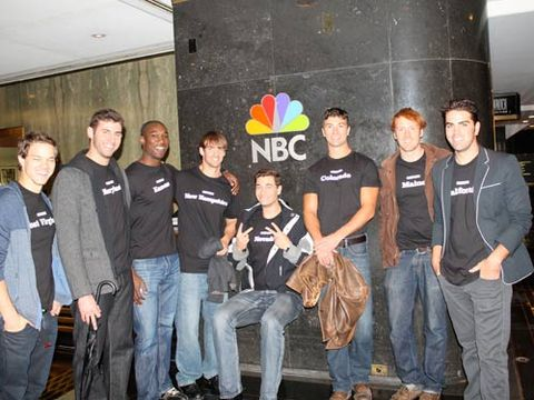 The wonderful staff at NBC gave the Bachelors a backstage tour of their studios. Now, if only we could get a tour of the Bachelors' bodies...