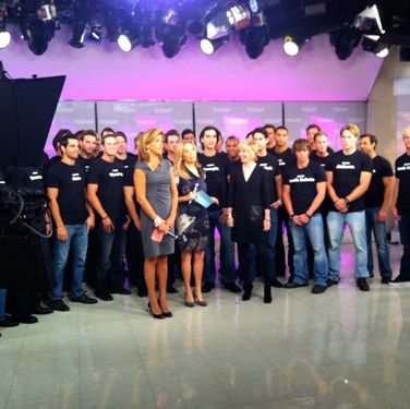 Lights, camera, hotness! Here are the Bachelors on <i>The Today Show</i> with Kathie Lee & Hoda and Cosmo's editor-in-chief, Kate White.
