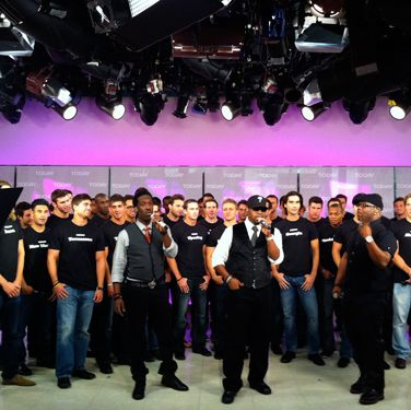 Yep, that would be Boyz II Men. On <i>The Today Show</i>. With the Bachelors. #MANCANDYOVERLOAD