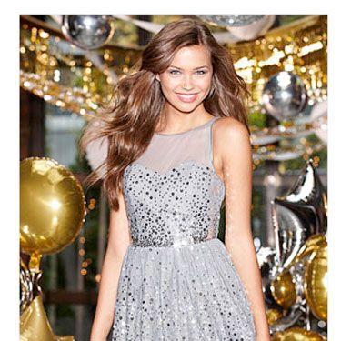 """<br /><br />Delia's Allover Silver Sequin Dress, $60, <a href=""""http://store.delias.com/item.do?itemID=56774&categoryID=1826""""target=""""_blank"""">delias.com</a>"""