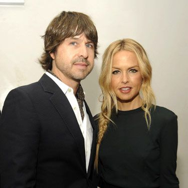 Rachel Zoe and hubby Rodger Berman looked perfectly paired in black and white.