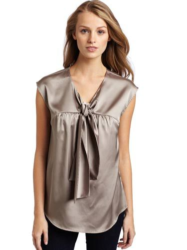 "We love this top because it's festive and flirty without being <i>too</i> sexy. <br /><br /> Mac & Jac Women's Matte Satin Blouse, $69, <a href=""http://www.amazon.com/Mac-Jac-Womens-Blouse-Medium/dp/B0057TWVMO/ref=sr_1_11?s=apparel&ie=UTF8&qid=1320962264&sr=1-11""target=""_blank"">amazon.com</a>"