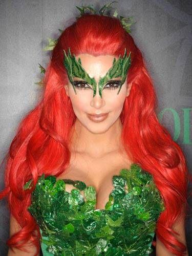 kim kardashians poison ivy makeup