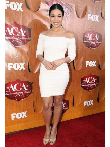 """The off-the-shoulder version the <i>American Idol</i> alum wore to <a href=""""http://www.cosmopolitan.com/hairstyles-beauty/beauty-blog/american-country-awards-2011-pictures-120611"""">the American Country Awards</a> showed off her hot bod."""