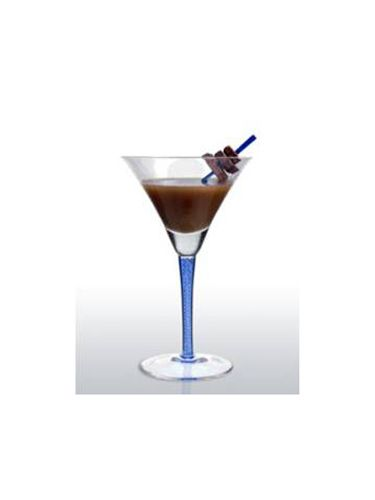 <br /><p><b>Ingredients:</b><br /> 3 oz Blue Ice Vodka<br /> 1½ oz Godiva Chocolate Liqueur<br /> ½ oz White Cream de Cacao<br /> Several chunks of milk chocolate <br /></p>  <p><b>Directions:</b><br /> Add vodka, Godiva Chocolate Liqueur and White Cream De Cacao into a cocktail shaker and fill with ice.<br /> Shake vigorously and strain into a martini glass.<br /> Garnish with a toothpick of milk chocolate chunks. <br /></p>