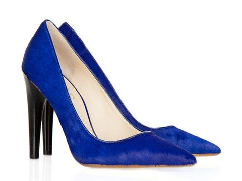"KORS Michael Kors Elgin Pointed-toe Calf-hair Pumps, $295, <a href=""http://www.net-a-porter.com/product/101911""target=""_blank"">net-a-porter.com</a>"