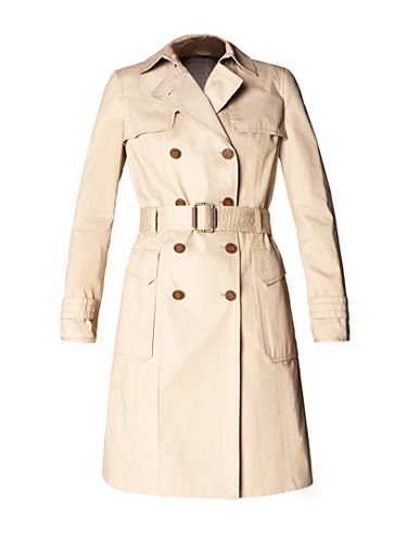 """It will never go out of style. <br /><br /> Double Breasted Trench Coat, $159.90, <a href=""""http://shop.mango.com/US/p/mango/clothing/jackets/double-breasted-trench-coat/?id=51015150_E4""""target=""""_blank"""">mango.com</a>"""