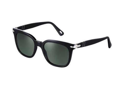 "The perfect, retro shape. <br /><br /> Persol Sunglasses, $220, <a href=""http://www.sunglasshut.com/webapp/wcs/stores/servlet/PDP?storeId=12351&catalogId=&langId=-1&productId=713132361542""target=""_blank"">sunglasshut.com</a>"
