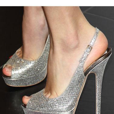 The snakeskin and silver pattern hits on two trends at once.