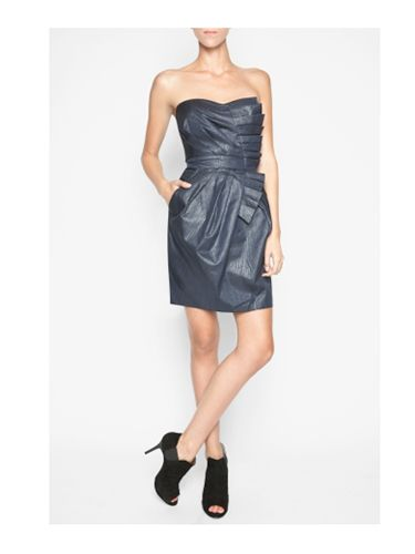 "<br /><br /> BCBGeneration Cascade-Pleat Dress, $148, <a href="" http://www.bcbg.com/product/index.jsp?productId=12252828&cp=4414406.4390667&clickid=cat_leftnav_txt&parentPage=family""target=""_blank""> bcbg.com</a>"