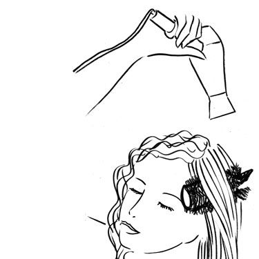 Using a medium-size round brush, grab hair at the roots and run the brush down strands, moving the blow-dryer over the brush as you go. Make sure you point the nozzle down&#x3B; this flattens the cuticle to prevent frizz and keep hair looking shiny. Do this until your mane is dry.