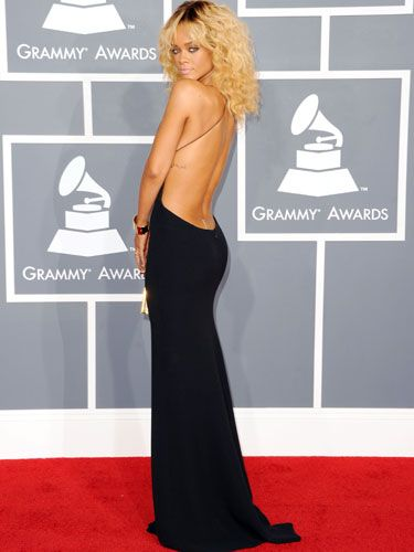 Sexy without going over the top: Rihanna's sultry Armani was so, so fabulous.