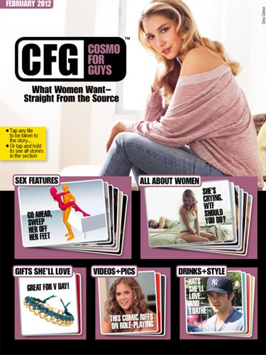 Whether you've just started seeing your girl or you've been together for years, there's something for every guy in this issue. And we're covering it all: Sex, dating, grooming, style, drinks… you name it. Here's a taste of what you can expect if you download the February issue of CFG: Cosmo For Guys.