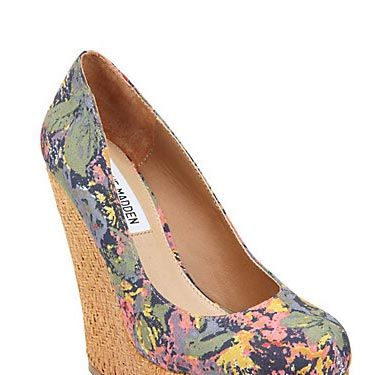 "These pretty sky-high ones from Steve Madden will definitely put some spring pep in your step. $99.95, <a href=""http://www.stevemadden.com/Item.aspx?id=89537&np=ListSearch&sp=floral"" target=""_blank"">stevemadden.com</a>"