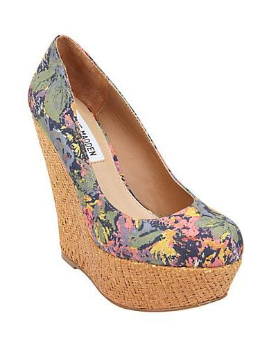 """These pretty sky-high ones from Steve Madden will definitely put some spring pep in your step. $99.95, <a href=""""http://www.stevemadden.com/Item.aspx?id=89537&np=ListSearch&sp=floral"""" target=""""_blank"""">stevemadden.com</a>"""