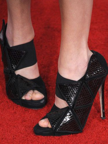 Malin Akerman's geometric heels were super eye-catching.