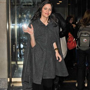 <i>Smash</i> star Katharine McPhee recently stepped out in a cape, a trend we're totally loving for the transition from winter to spring since the look works on all body types.