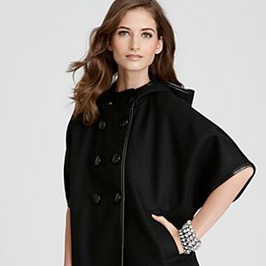DKNY Double-Breasted Cape Coat, $187