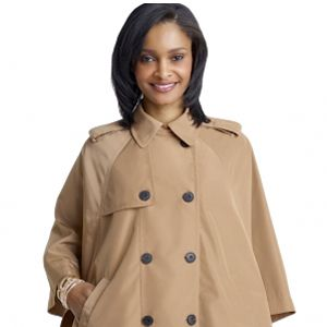 "The Limited Rain Cape, $98 <a href=""http://www.thelimited.com/detail/trench-rain-cape/2105568"" target=""_blank"">thelimited.com</a>"