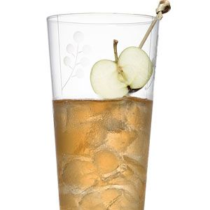 <i>4 oz. applejack<br />4 oz. fresh lemon juice<br /> 1 oz. Cointreau or triple sec<br />Garnish: halved crab apple</i><br /><br />Fill a cocktail shaker with ice. Add the ingredients, shake vigorously, and pour into a tall glass with ice. Spear the halved crab apple, and add as a garnish.<br /><br /> <i> Source: Laurence Kretchmer, Bar American, New York City</i>