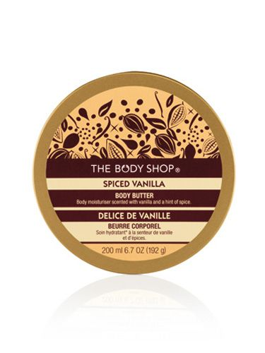 """If you're going to be touched, you definitely want to prep your skin with something like this ultra-hydrating body butter. Bonus: The vanilla scent is total man-bait.   <br /><br /> Spiced Vanilla Body Butter, $9, <a href=""""http://www.thebodyshop-usa.com/body-products/new-body-products/spiced-vanilla-body-butter.aspx""""target=""""_blank"""">thebodyshop-usa.com</a>"""