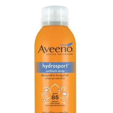 """If you're participating in any type of water-centric activity (sure, the <a href=""""http://www.cosmopolitan.com/advice/books/cosmo-aqua-kama-sutra"""">Aqua Sutra</a> counts!), then this is the sunscreen for you. You can spray it directly onto damp skin the second you hop back onto the boat—no towel required—and it will absorb. Plus, we love the sporty orange bottle.<br /><br />Aveeno Hydrosport Sunblock Spray SPF85, $11.39, <a href=""""http://www.drugstore.com/products/prod.asp?pid=328498&catid=274389&aid=337953&aparam=aveeno_active_naturals_h&CAWELAID=780303182""""target=""""_blank"""">drugstore.com</a>"""