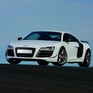 """This is called a """"supercar"""". Can you think of anything better?<br /><br />Audi R8 GT, $196,000, <a href=""""http://progress.audiusa.com/""""target=""""_blank"""">audiusa.com</a>"""