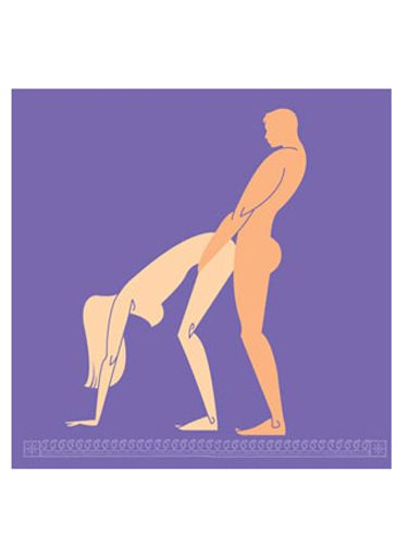 <br /><p><b>Erotic Instructions:</b><br />Stand with your back to your man, then bend over slowly and put your palms on the floor. (If flexibility isn't your strong suit, simply bend your knees to adjust.) Have him enter you from behind, wrapping one of his arms around your waist so neither of you loses your balance. Should you start to go off kilter, press your hands firmly to the floor to steady yourself. If you want, grab some pillows for underneath your hands for extra support and comfort on your way to seventh heaven.</p><p><b>Why You'll Love It:</b><br />This position elevates your buttocks, allowing him to thrust downward at a unique angle. The internal pressure created by the force of his thrusting will stimulate your clitoris from the inside. Plus, the southern direction of his plunge will increase his chances of hitting your ultrasensitive G-spot.</p>