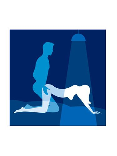 <br /><p><b>Erotic Instructions:</b><br />Get down on all fours with your man kneeling behind you and have him plunge inside you, grabbing your rear for balance. A little firm, well-placed stroking of your G-spot can open up a whole new orgasmic world. If he's the exploring kind, encourage him to thrust far enough inside you so that his testicles hit your body.</p><p><b>Why You'll Love It:</b><br />Once you have a G-spot orgasm, you'll crave more. Also, there's something very primal about doing the deed from behind that brings out the animal in even the most mild-mannered guy.</p>