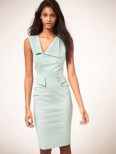 "<p>We love this pencil-fit frock for its minty-fresh color and front peplum flaps, which make it more geometric than girly.</p> <p>Asos Hybrid Dress with Neck Panel and Peplum Detail, $152.19, <a title=""asos"" href=""http://us.asos.com/Hybrid-Dress-with-Neck-Panel-Peplum-Detail/xw40m/?iid=2176203&SearchQuery=peplum&sh=0&pge=0&pgesize=20&sort=-1&clr=Mint&mporgp=L0h5YnJpZC9IeWJyaWQtRHJlc3Mtd2l0aC1OZWNrLVBhbmVsLVBlcGx1bS1EZXRhaWwvUHJvZC8."" target=""_blank"">asos.com</a>.</p>"