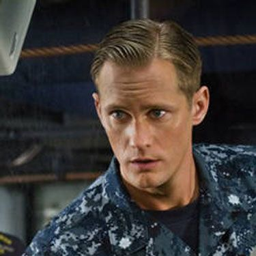 This sexy Swede plays a commanding Naval officer who  battles aliens on the high seas in this upcoming flick. Yum.