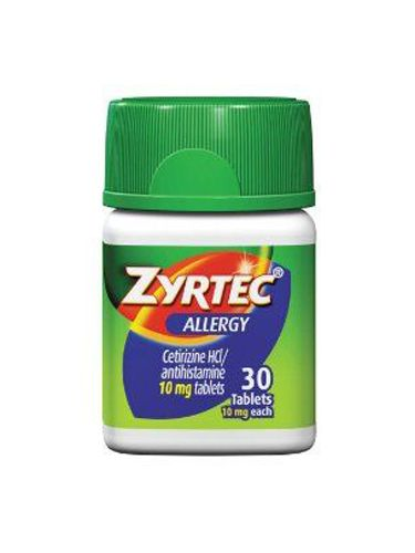 "<p class=""p1"">Draelos recommends taking an over-the-counter anti-histamine before heading outdoors. For spring-fever relief: Zyrtec 24-Hour, $19.49, <a title=""zyrtec"" href=""http://www.amazon.com/Zyrtec-Allergy-Tablets-45-10/dp/B000X1IZD0"" target=""_blank"">amazon.com</a>, which helps stave off symptoms all day.</p>"