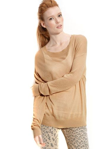 "<p>This super-soft sweater will make you feel like you're watching TV on a lazy Saturday morning. The oversized fit has a sexy way of making him think about you wearing his shirt.</p>  <p>$225; <a href=""http://shop.nordstrom.com/s/paper-crown-camila-skivvy/3197178?origin=category&resultback=0"" target=""new"">nordstrom.com</a></p>"