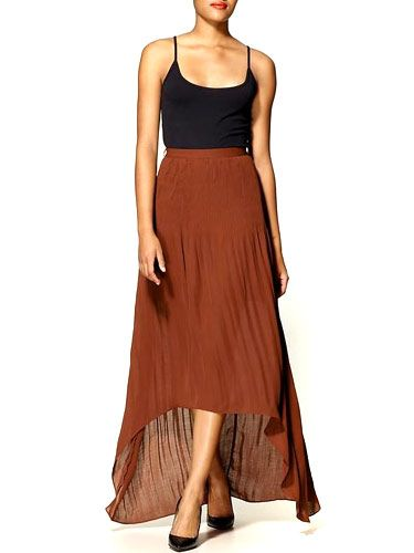 "<p>The pleats and shorter front lend a date-worthy formalness to this pick. Loose and flowy, it'll be comfy for sitting, too.</p>  <p>$130; <a href=""http://piperlime.gap.com/browse/product.do?cid=64314&vid=1&pid=214905&scid=214905002"" target=""new"">piperlime.com</a></p>"