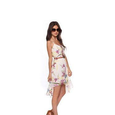 This floral frock is a perfect fit for a springtime affair.