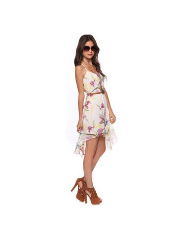 """This floral frock is a perfect fit for a springtime affair. <br /><br /> Forever 21 High-Low Floral Dress with Belt, $24.80, <a href=""""http://www.forever21.com/Product/Product.aspx?BR=f21&Category=whatsnew_app_dresses&ProductID=2000035689&VariantID=&utm_source=affiliatetraction&utm_medium=cj&utm_campaign=affiliate"""" target=""""_blank"""">forever21.com</a>."""