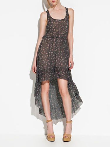 """We love this Stevie Nicks-esque style frock. Perfect for a picnic in the part with your girlfriends or your guy. <br /><br /> Zara Floral Dress, $59.90, <a href="""" http://www.zara.com/webapp/wcs/stores/servlet/product/us/en/zara-us-S2012/189503/716037/FLORAL%2BDRESS """" target=""""_blank"""">zara.com</a>."""