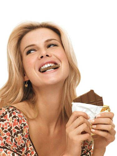 """Scientists from the University of California at San Diego studied nearly 1,000 people and discovered that those who <a href=""""http://www.cosmopolitan.com/celebrity/news/chocolate-diet"""" target=""""_blank"""">regularly eat chocolate</a> are slimmer than those who just eat it occasionally. That daily chocolate habit doesn't sound so bad now, huh?"""