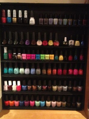 """He made a nail polish rack for my out-of-control collection."" —@christicatt"