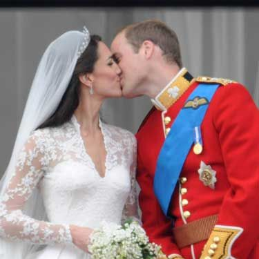 "On April 29, Will and Kate said ""I do"" while millions of people watched around the world. They also shared this sweet kiss on the balcony at Buckingham Palace."