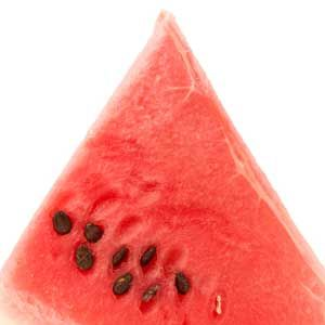 Just like cucumbers, watermelon is loaded with, uh, water, which fights bloat, says Bauer. It's also less than 100 calories per large wedge, and surprisingly isn't loaded with sugar (oh, and it tastes delish).