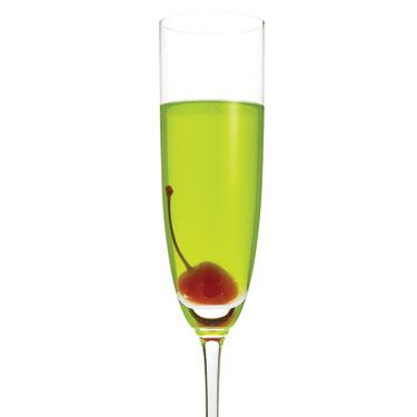 <i>1 oz. Midori Melon Liqueur<br />1¼ oz. simple syrup (dissolve one part sugar in one part boiling water&#x3B; let cool)<br />1¼ oz. sour mix<br />2 oz. champagne<br />Garnish: cherry<br /><br /></i>Shake all ingredients together in a shaker with ice. Strain into a chilled champagne flute, and garnish with cherry.<br /><br /><i>Source: Café Adelaide, New Orleans</i>