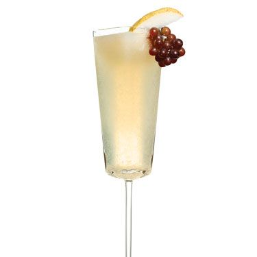 <i>1 oz. white rum<br />1 oz. pureed pear<br />1 oz. lemon juice<br />1 oz. champagne<br />½ oz. simple syrup (dissolve one part sugar in one part boiling water&#x3B; let cool)<br />½ oz. dark rum</i><br /><br />Shake everything but the champagne and dark rum with ice. Pour champagne into a glass, then add pear mixture and dark rum.<br /><br /><i>Source: Rain Lampariello, Chinatown Brasserie, New York City</i>