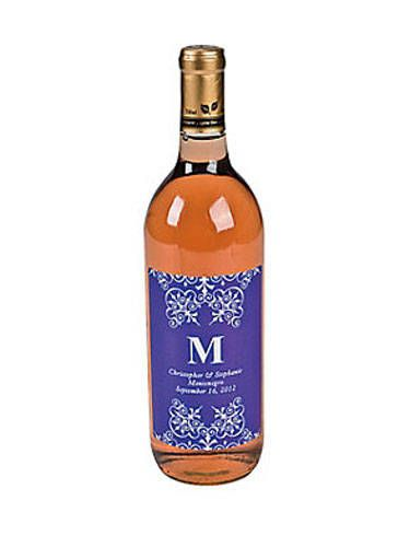 """Booze: Best party gift ever?! Just slap these crazy-cheap custom wine labels (which come in a variety of colors) on a bottle of two-buck chuck and send everyone home with a favor they'll actually use.<br /><br />  Monogram Wine Bottle Labels, $8.50 per dozen, <a href=""""http://www.orientaltrading.com/purple-personalized-monogram-wine-bottle-labels-a2-47_2301.fltr?prodCatId=1503&categoryFromSearch=true&rd=bachelorette"""" target=""""_blank"""">orientaltrading.com</a>"""