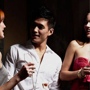 If he's the type to think you're still pining away (ugh, get over yourself, dude!), try this little mind game: The next time you see him at a party, tell him there's a girl you think he should meet. It'll totally screw with his head—and get across the point that you're so over him.
