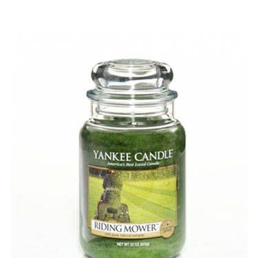 Yankee Candle's Man Candles feature scents like Riding Mower, First Down, and Man Town. What, no Beer?<br /><br />