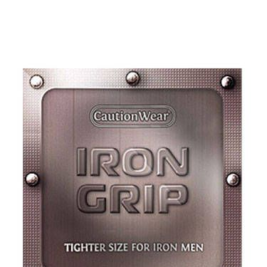 Iron Grip condoms—made for the, uh, smaller man in your life.<br /><br />