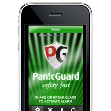 """Not only does a single tap or shake set off this app's piercing alarm, but it secretly starts recording video of your attacker on your phone so they can be identified later. Panic Guard also tracks your location as soon as the alarm is activiated and sends your coordinates to your preselected contacts and police, so even if you book it away from the scene, they can still find you. <br /><br /><a href=""""http://panicguard.com/"""" target=""""_blank"""">panicguard.com</a>, $5.99/month"""