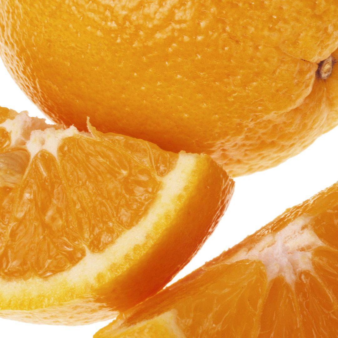 "Noshing on an orange or grapefruit—even adding a little lemon in your iced tea—can <a href=""http://www.cosmopolitan.com/advice/tips/happiness-secrets"" target=""_blank"">improve your mood</a> says psychologist Dale Atkins, PhD, author of <i>Sanity Savers</i>."